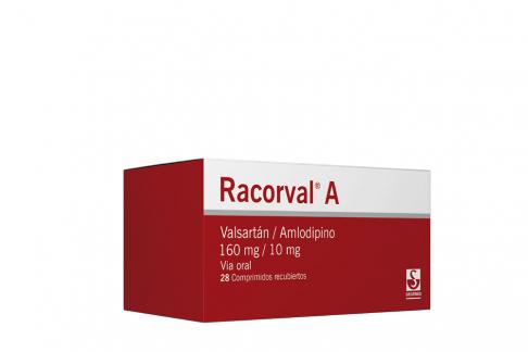 Racorval A 160 / 10 mg Caja Con 28 Tabletas Recubiertas Rx