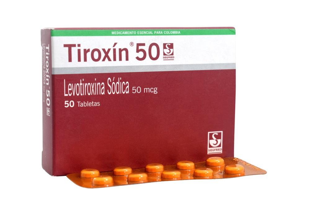 Tiroxin 50 Mcg Caja Con 50 Tabletas Rx Rx4
