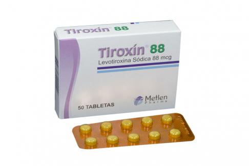 Tiroxin 88 mcg Caja Con 50 Tabletas Rx Rx4