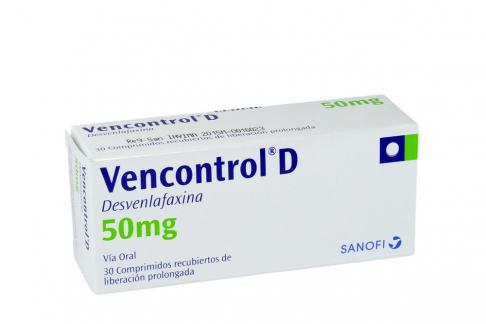Vencontrol D 50 mg Caja Con 30 Comprimidos Recubiertos de Liberación Prolongada Rx