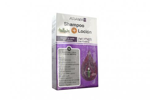 Shampoo Arawak Control Caída Women Frasco Con 200 mL+ Loción Capilar Con 120 mL