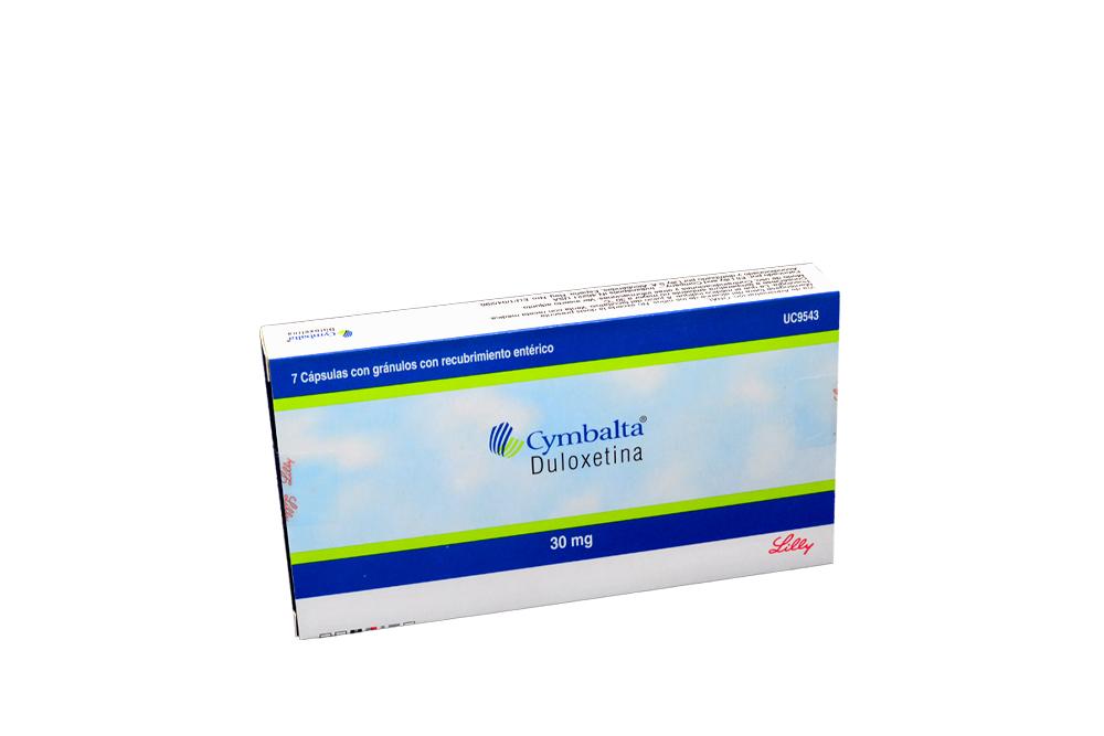 Cymbalta 30 mg Caja Con 7 Cápsulas Con Gránulos Con Recubrimiento Entérico Rx4 Rx1