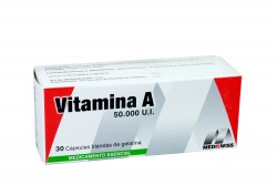 Vitamina A Siwiss Natural 50,000 Ui Caja Con 30 Cápsulas Rx