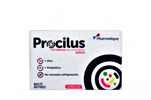 Procilus Polvo Vainilla Niños Caja Con 6 Sobres