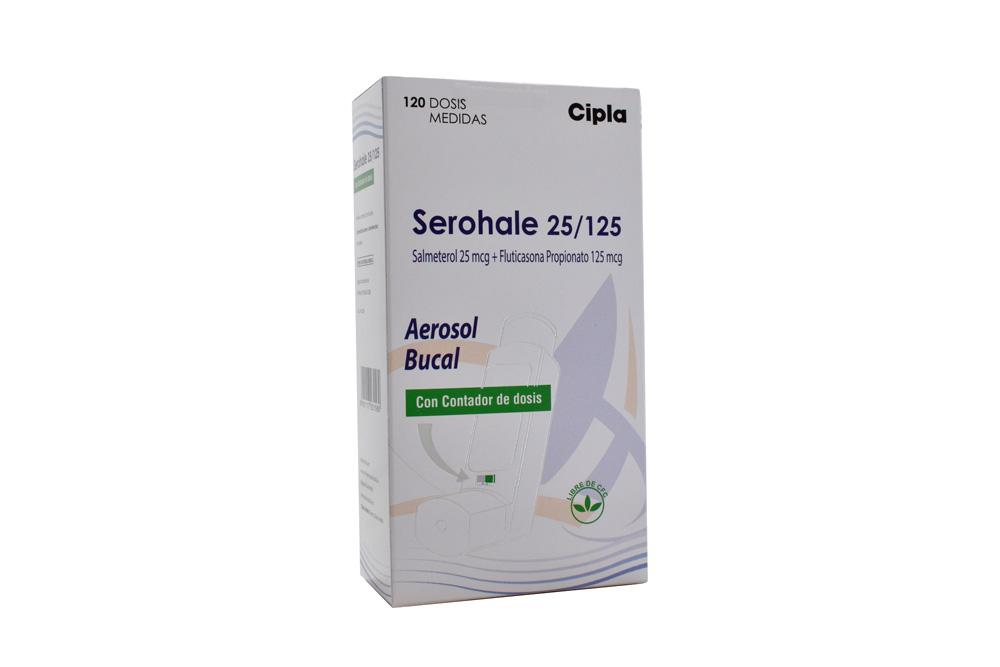 Serohale 125 / 25 mcg Caja Con Frasco Con 120 Dosis Rx