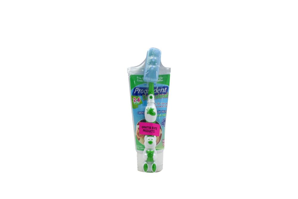 Crema Dental Proquident Kids Naturals Tubo Con 100 gr + Cepillo Dental Kids