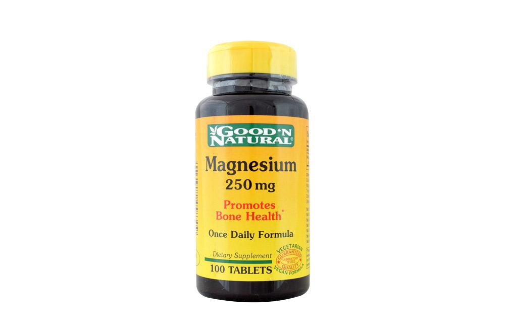 Good'N Natural Magnesium 250 Mg Frasco Con 100 Tabletas