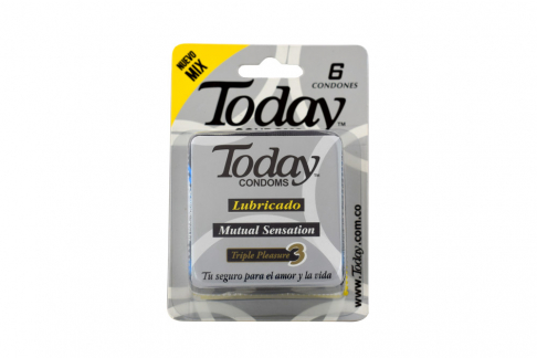 Condones Today Lubricado Mix Empaque Con 6 Unidades