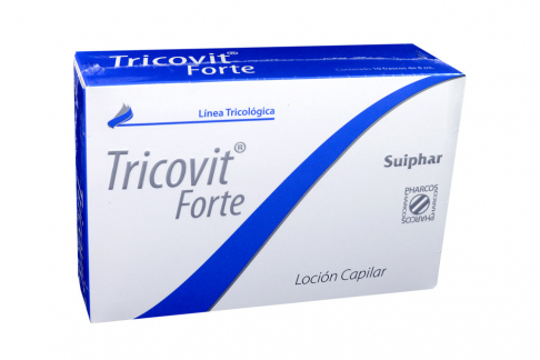 Loción Capilar Tricovit Tópica Forte Caja Con 10 Ampollas