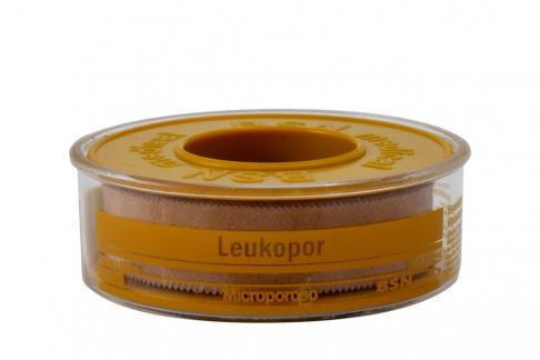 Leukopor Esparadrapo Microporoso Rollo x 1 Unidad