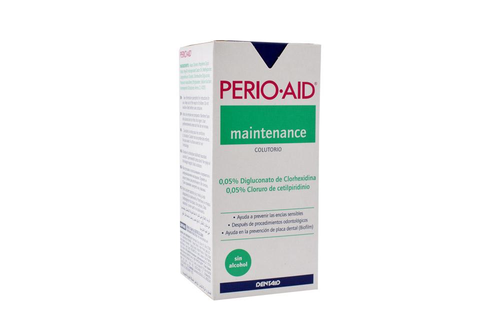Enjuague Bucal Perio-Aid Maintenance Active Control Caja Con Frasco Con 150 mL