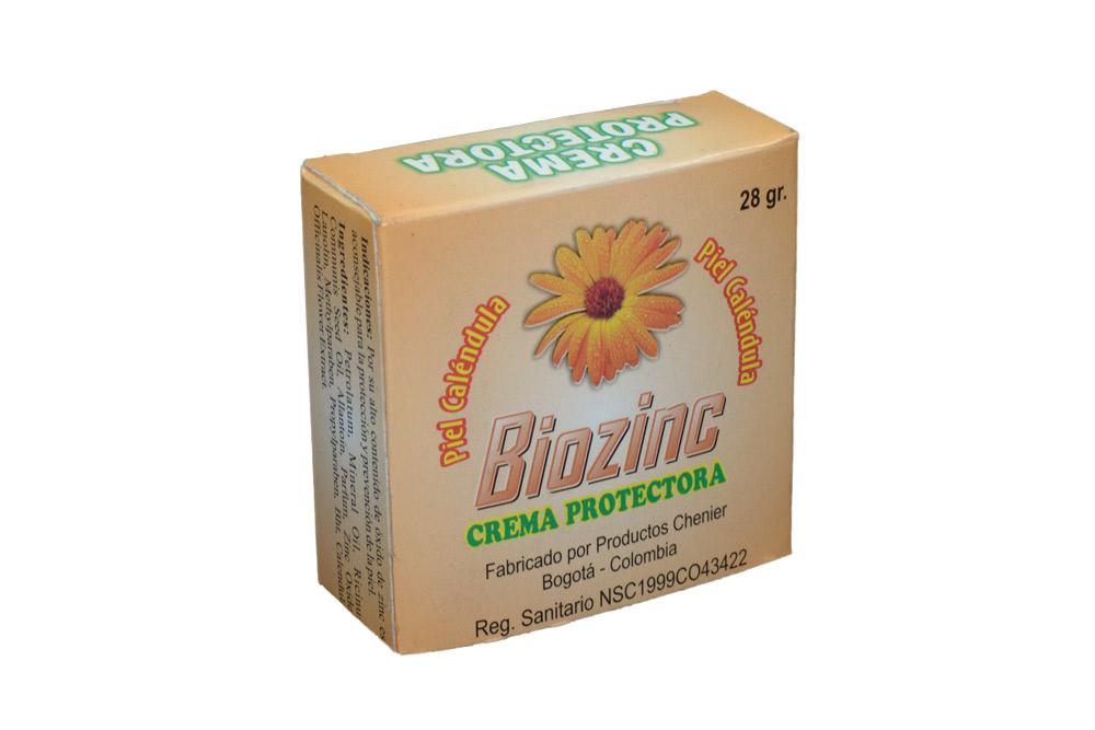 Biozinc Crema Protectora Caja Con Frasco Con 28 g