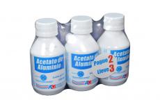 Acetato De Aluminio Loción Frasco Con 120 mL - Pague 2 Lleve 3