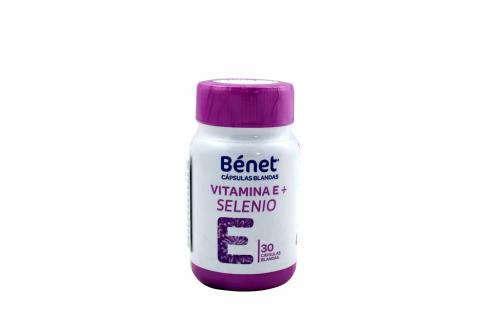 Vitamina E + Selenio Frasco Con 30 Cápsulas