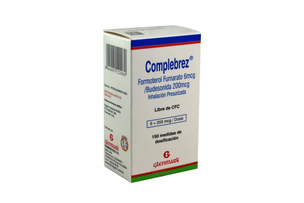 Complebrez 6/200 mcg Caja Con 1 Frasco Con 150 Dosis Rx