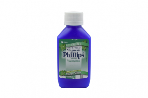 Leche Magnesia Phillips Sabor Menta Frasco Con 120 mL