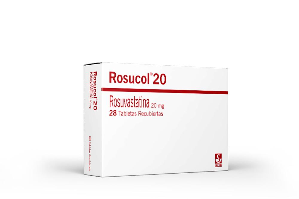 Rosucol 20 mg Caja Con 28 Tabletas Recubiertas Rx