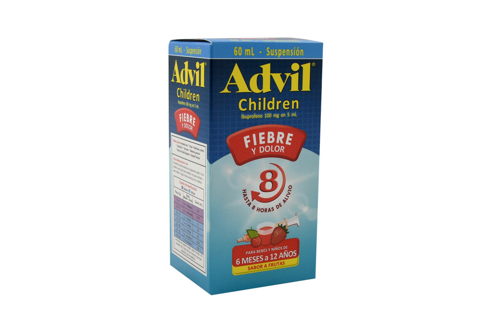 Advil Children 100 mg / 5 mL Caja Con Frasco Con 60 mL – Sabor Frutas