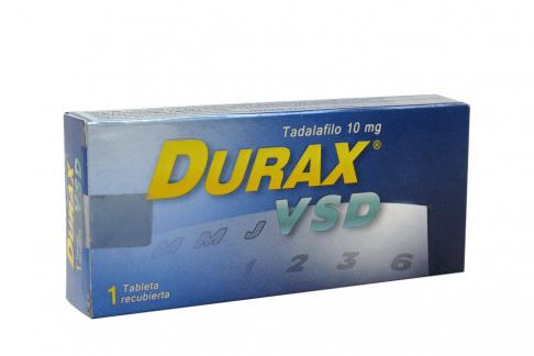Durax VSD 10 mg Caja Con 1 Tableta Recubierta Rx