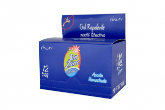 Gel Repelente Sin Zanc Caja Con 12 Sobres Con 10 g C/U