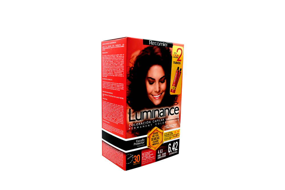 Tinte Luminance Tono 6.42 Rubio Oscuro Cobrizo Irisado Caja Con 1 Kit