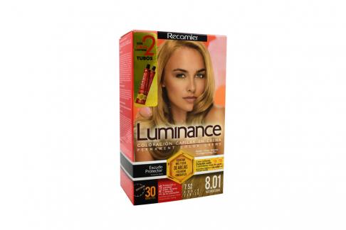 Tinte Luminance Tono 8.01 Rubio Cenizo Caja Con 1 Kit