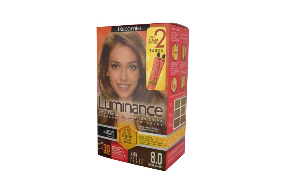 Tinte Luminance Tono 8.0 Rubio Claro Caja Con 1 Kit