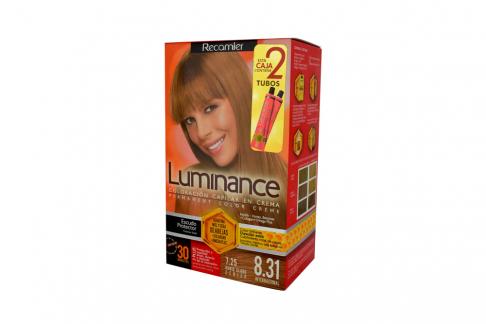 Tinte Luminance Tono 8.31 Rubio Claro Cenizo Caja Con 1 Kit