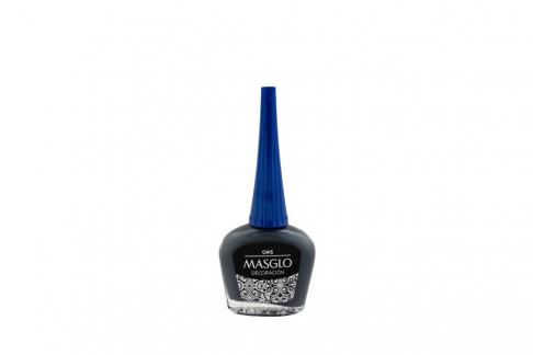 Esmalte Masglo Frasco Con 13.5 mL - Tono Decoración Gris