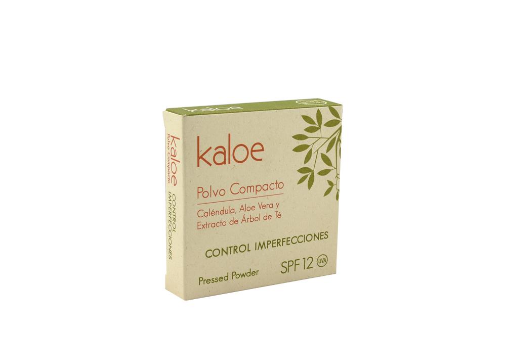 Polvo Compacto Kaloe Control Imperfecciones Caja Con Estuche Con 15 g - Tono Almendra
