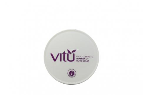 Polvo Compacto Vitamina E y Filtro Solar Vitú Estuche Con 14 G - Tono Avellana
