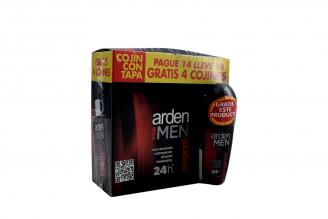 Crema Desodorante Arden For Men Caja Con 18 Cojines + Gratis Roll On Con 30 mL