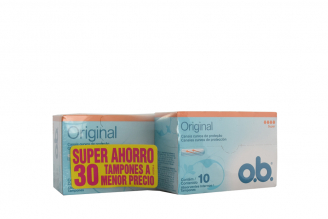 Tampones Ob Original Caja Con 20 Unidades + Caja Con 10 Unidades