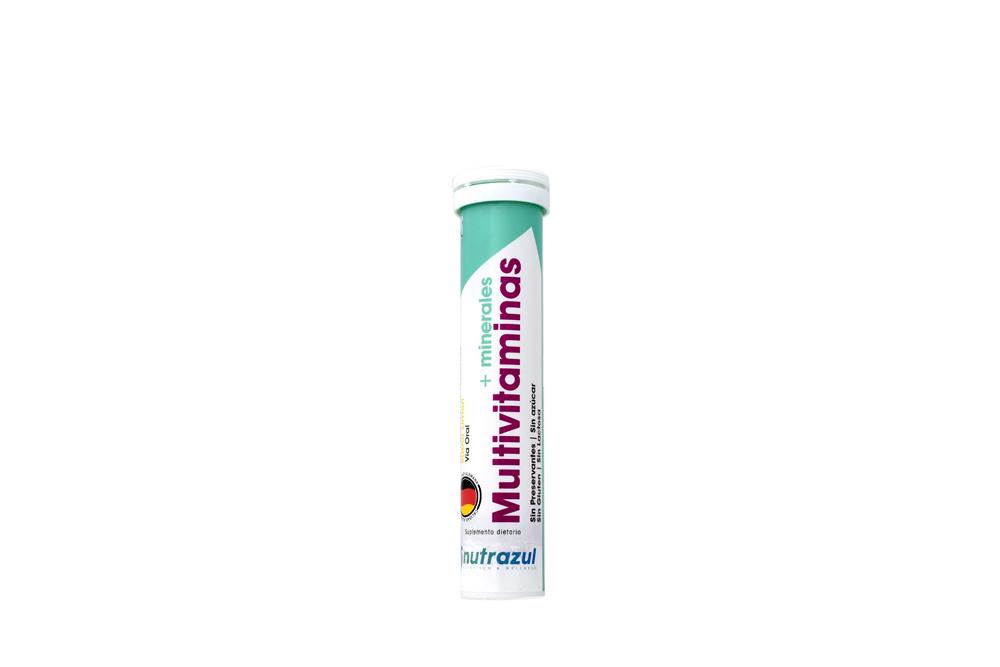 Multivitaminas + Minerales Tubo Con 20 Tabletas Efervescentes - Sabor Limón
