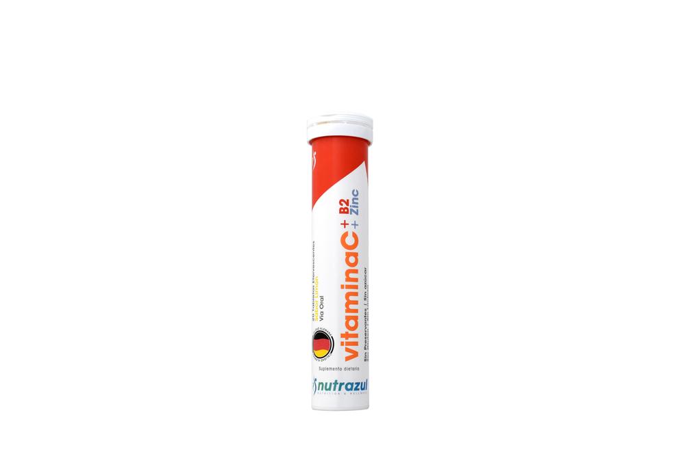 Vitamina C + B2 + Zinc Tubo Con 20 Tabletas Efervescentes