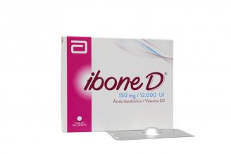 Ibone D 150 mg / 12.000 U.I Caja Con 1Tableta Recubierta Rx4