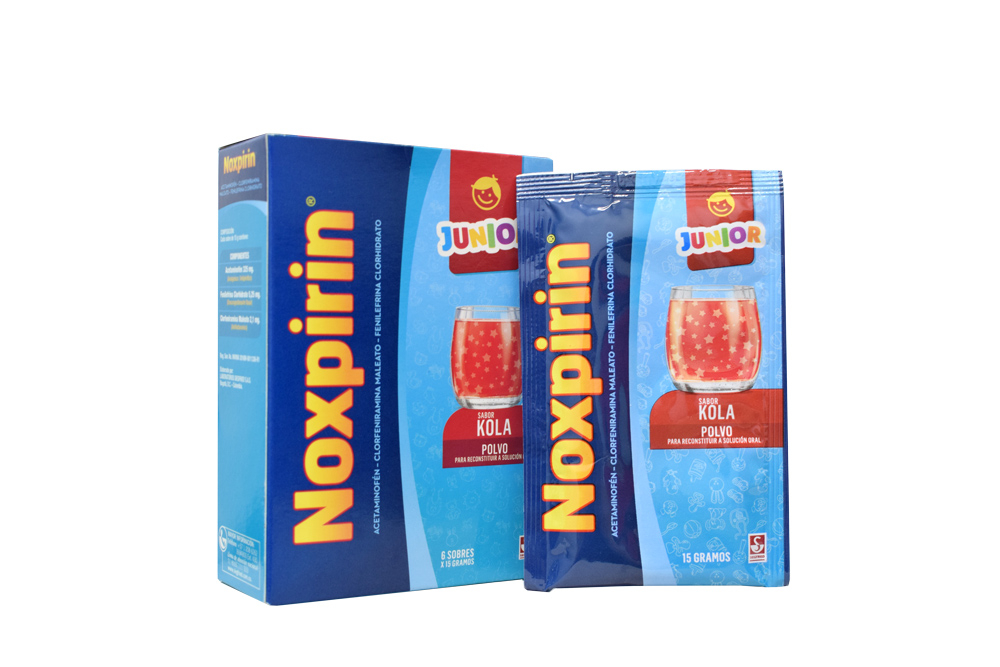 Noxpirin F Junior Gripa Caja Con 6 Sobres  Rx