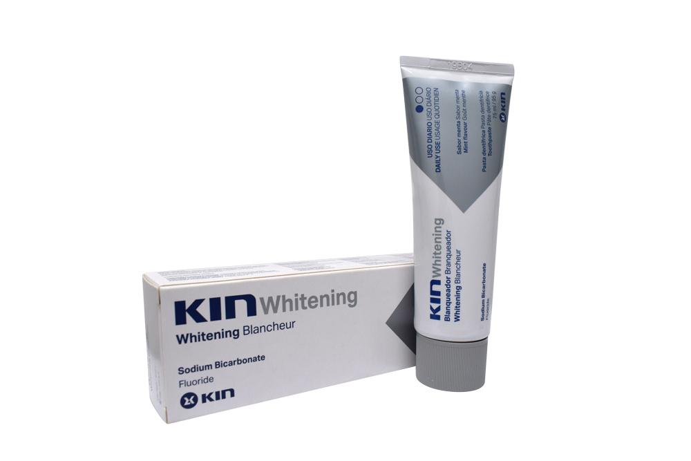 Crema Dental Kin Whitening Caja Con Tubo Con 75 mL