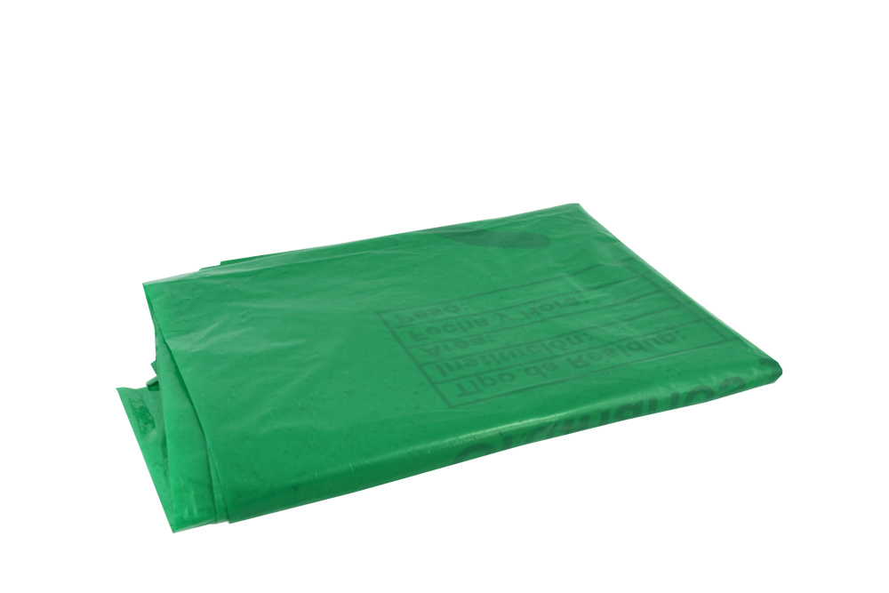 Bolsa Plástica Color Verde 13 X 24 Empaque Con 5 Unidades