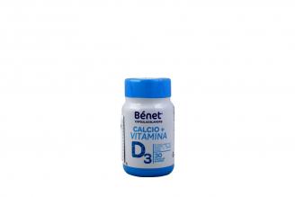 Calcio + Vitamina D3 Bénet Frasco Con 30 Cápsulas