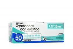 Tapabocas Alfa Safe Color Azul Con Elástico Caja Con 50 Unidades