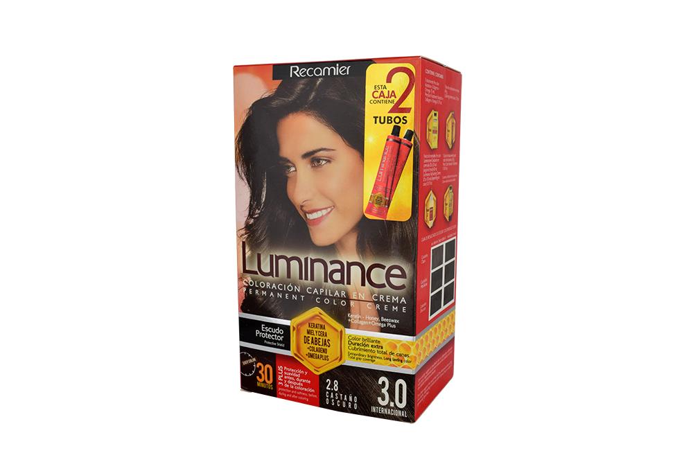 Coloración Capilar En Crema Luminance Tono 2.8 Castaño Oscuro Caja Con 1 Kit
