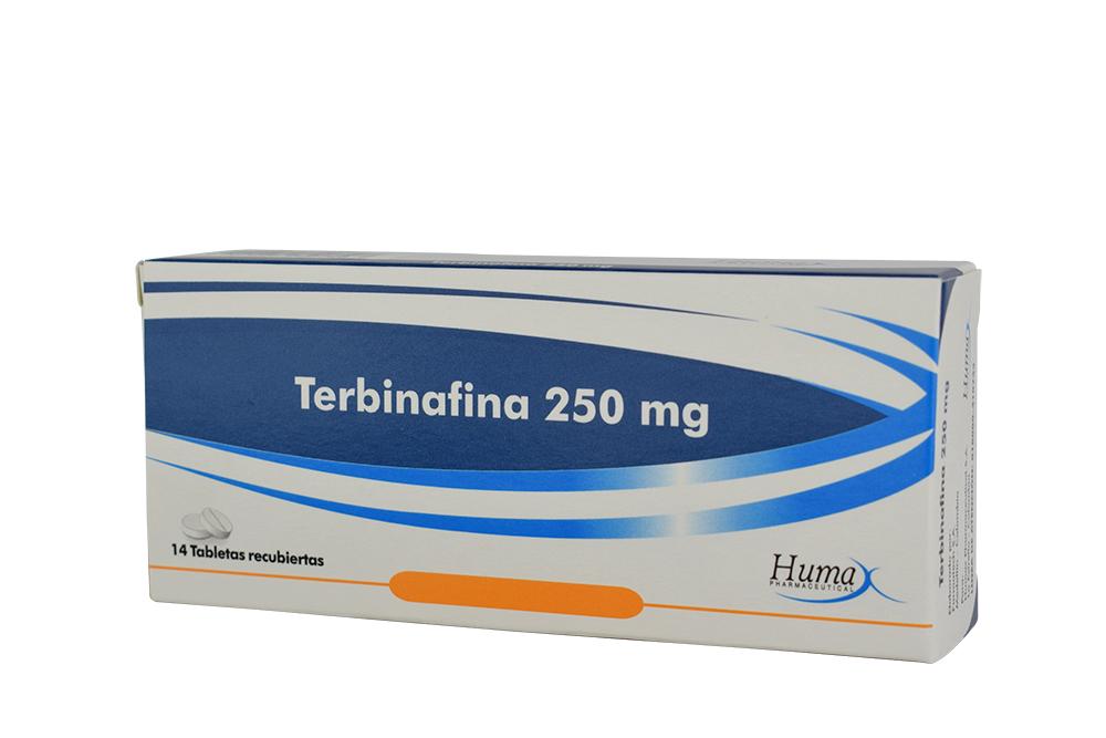 Terbinafina 250 mg Caja Con 14 Tabletas Recubiertas Rx