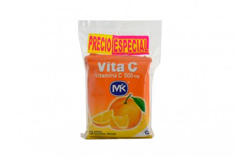 Vita C Sabor A Naranja 500 Mg Bolsa Con 36 Tabletas