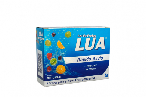 Sal De Frutas Lua Original Rápido Alivio Caja Con 8 Sobres Con 5 g C/U