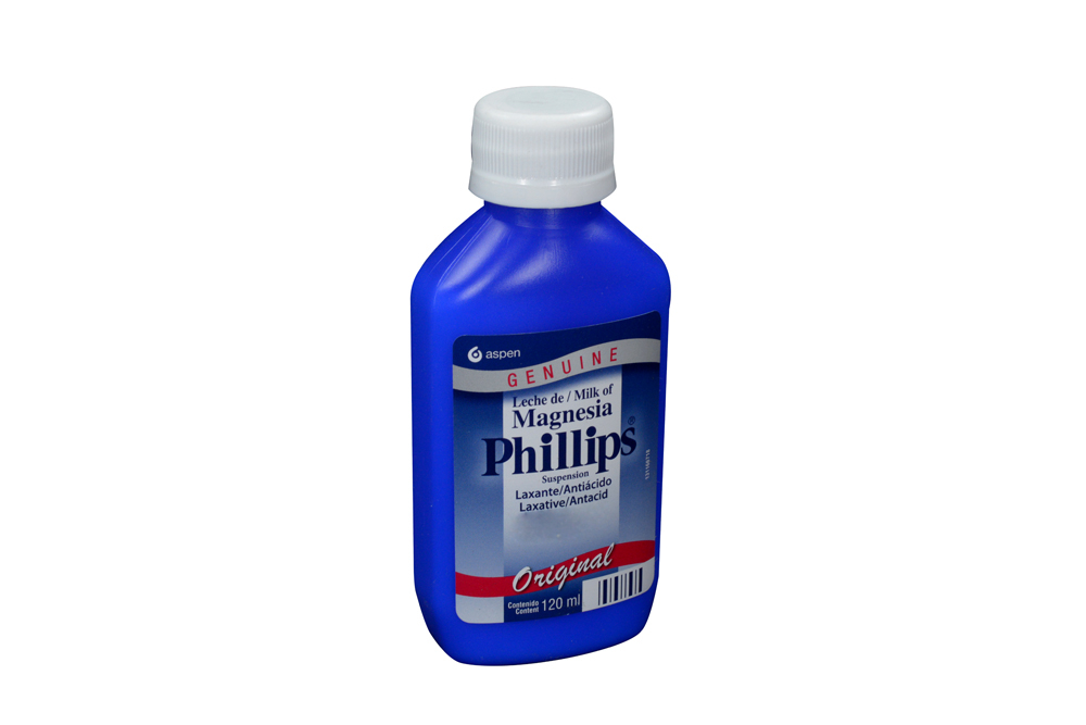 Leche De Magnesia Phillips Sabor Original Frasco Con 120 mL