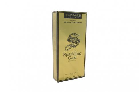 Loción Dream World Perfumes Sparkling Gold Para Hombre Caja Con Frasco Con 100 mL