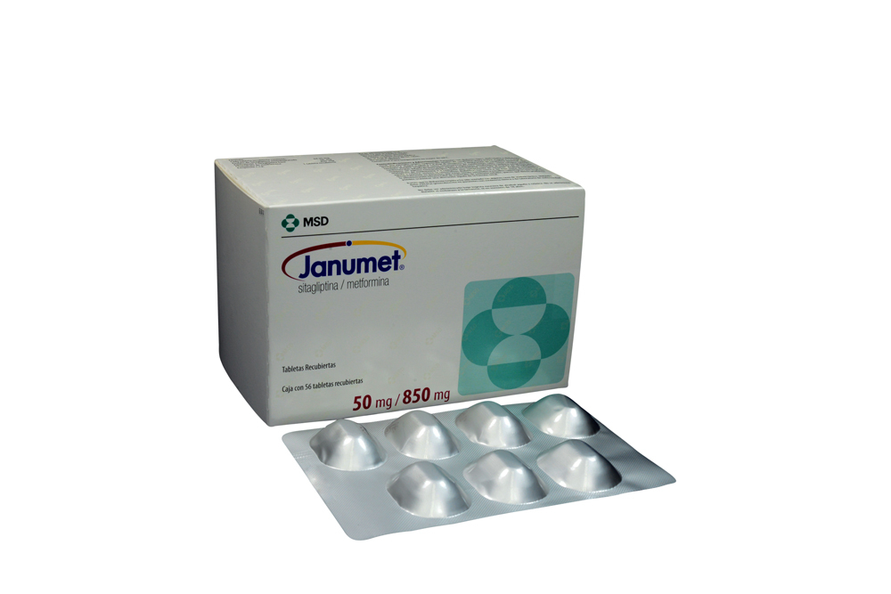 Janumet 50 / 850 mg Caja Con 56 Tabletas Recubiertas Rx