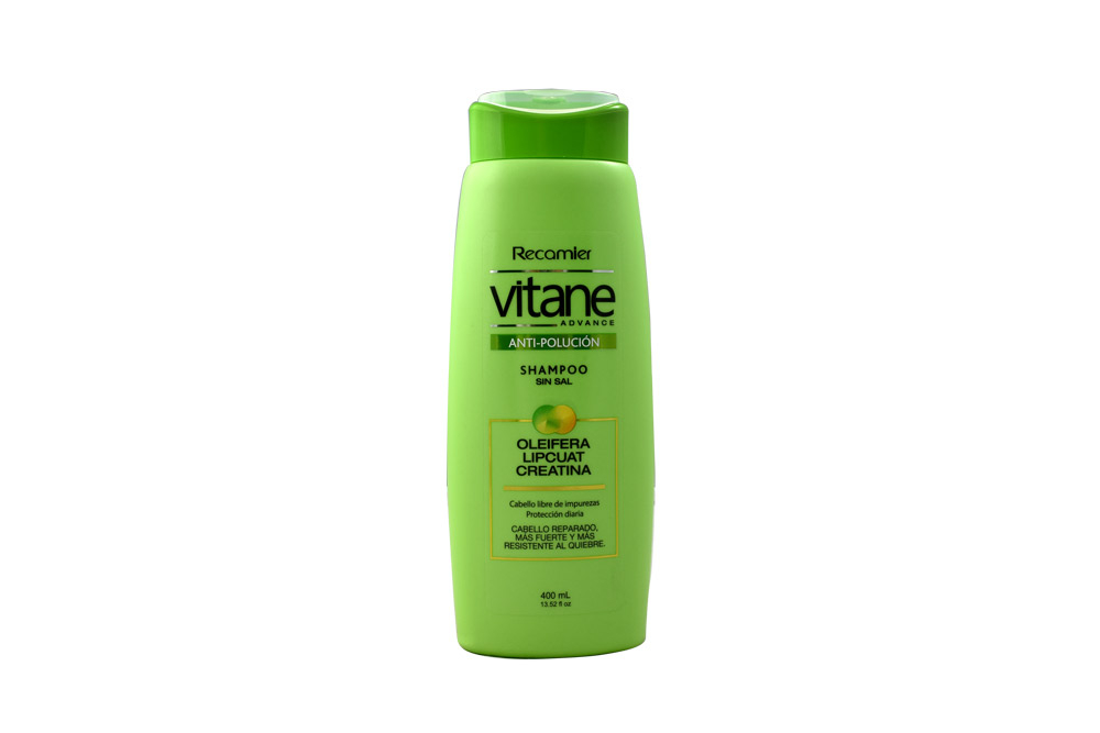 Shampoo Vitane Advance Anti Polución Sin Sal Frasco Con 400 mL