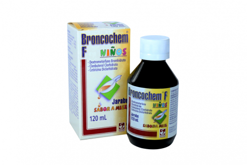 Broncochem F Niños Jarabe Sabor Miel Caja Con Frasco Con 120 mL Rx